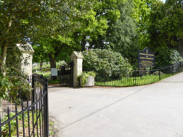 Haywards heath cemetery enterance